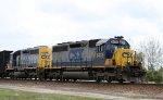 CSX 8475 & 8455 lead a train out of the yard