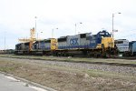 CSX 8514, 8020, and 4795 in the yard