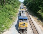 CSX 209 is on the lead of a coal train