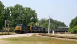 CSX 209 leads a long string of coal cars