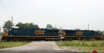 CSX 5367 & 5332 lead a rock train eastbound
