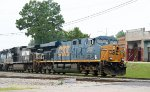 CSX 5227 leads a train towards the yard