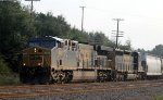 CSX 643 & 4010 leads train Q469-23 out of the yard