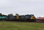 CSX 249 & 7367 lead train Q477 towards the yard