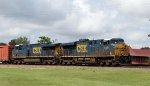 CSX 5369 & 5381 lead train Q401-02 towards the yard