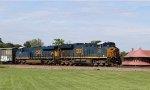 CSX 3296 & 3016 lead train Q477-19 towards the yard