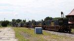 CSX 3196 leads train Q192-18 across the diamonds