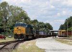 CSX 3330 leads train Q192-22 across Raleigh Street