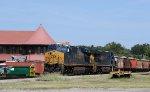 CSX 3187 & 3161 lead train Q777-25 across the diamonds