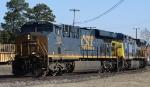 CSX 902 leads train U376-09 westbound