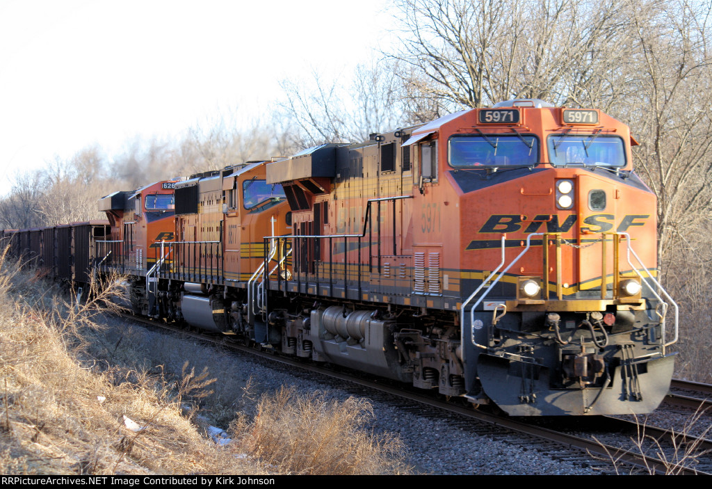 Westbound BNSF Hoppers