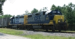 CSX 2512 & 6067 are power for train F738 headed for the yard
