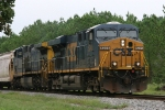 CSX 5245 leads train F728 to the yard