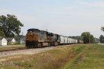 CSX 5434 leads train F728 towards the yard