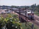 Westbound CB&Q passenger train at East Dubuque, IL
