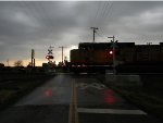 UP 5730 Passes though Pryor on a rainey day
