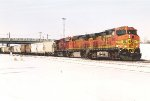 Eastbound grain train rolls through University