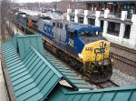 CSX AC loco leads a train to Indy