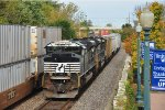 Two SD70M-2s haul a general merchandise