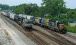 NS and CSX at the interlocking