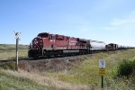 CP 8878 Passes Through the Des Lacs National Wildlife Refuge