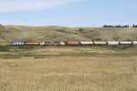 NPR 2285 Takes a Grain Train Amongst the Hills on the Former SOO Wheat Line