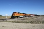 BNSF 5072 on the Point of an Oil Train