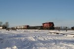 CP 9626 Rolls Through Town on its way to Minot
