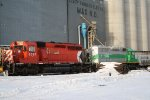 CP 6067 and  CITX 3064 Rest with a Snow Plow Extra