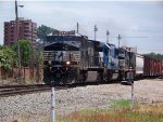 NS #9759 Leading A Mixed Freight