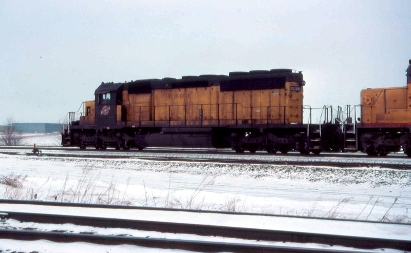 CNW 6903 in the snow