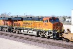 BNSF 6604 rolls westbound as the #3 unit pulling a Hot Z-Train towards LA.