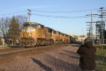 a railfan in the cold weather