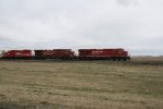 CP 8750 Runs the Point on a Grain Train