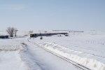 BNSF 6321 Approaches a Cut