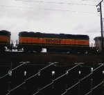 BNSF 341  First time I have ever seen a BNSF SLUG. Sorry for such a grainy pic
