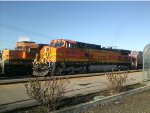 BNSF 5440 with an SD40 in the back