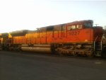 BNSF 9227  ACe at sunset
