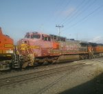 BNSF 941  Caught this one here 2 years ago or so and it looks even MORE faded. Hope they never repaint it tho!
