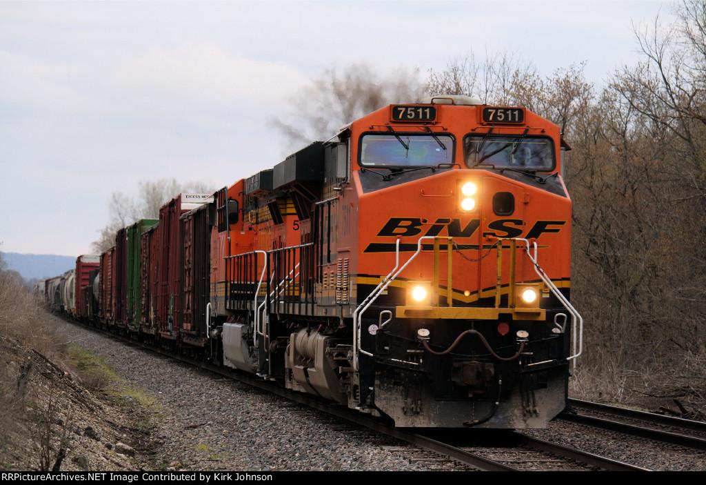 Westbound BNSF Freight