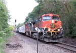 Westbound BNSF Freight with a Friendly Wave