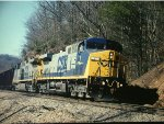 CSX 1 leads unit coal train