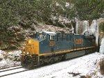 CSX 3084 leads hopper train through Blue Ridge Tunnel