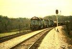 CSX 8098 lead a train north