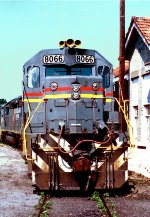 Seaboard System 8066 behind old Piedmont & Northern station