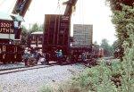 Southern Rwy cranes clear derailment