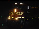 BNSF 6642  leads a west Z-Train in this night flash shot.