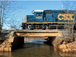 Pan shot of CSX 4423 on the Amboy Secondary (SA31)