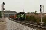 Rail train idles