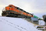 BNSF 2352 and 2313 are about to make a delivery to the Boeing Renton Plant